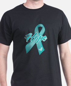 Hope Ribbon Ovarian Cancer T-Shirt