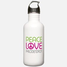 Peace Love Philodendron Water Bottle