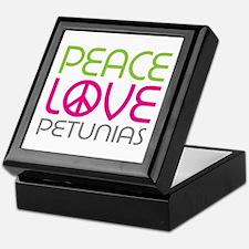 Peace Love Petunias Keepsake Box