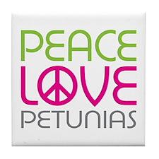 Peace Love Petunias Tile Coaster