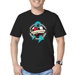 Ovarian Cancer Tattoo Ribbon Men's Fitted T-Shirt