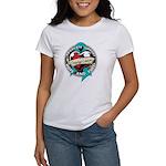 Ovarian Cancer Tattoo Ribbon Women's T-Shirt