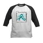 Ovarian Cancer Kids Baseball Jersey