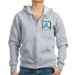 Ovarian Cancer Women's Zip Hoodie