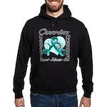 Ovarian Cancer Hoodie (dark)