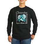 Ovarian Cancer Long Sleeve Dark T-Shirt