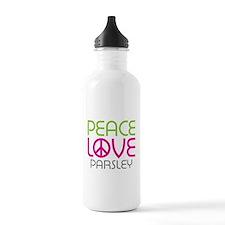 Peace Love Parsley Water Bottle
