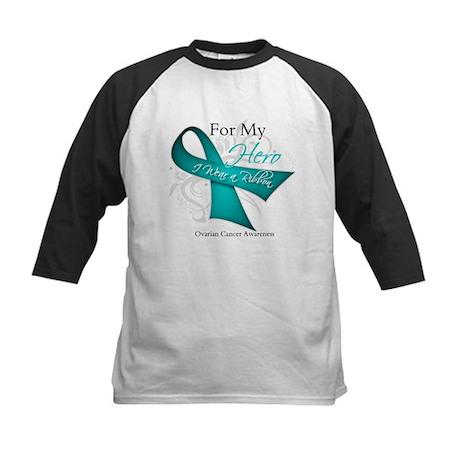 For My Hero Ovarian Cancer Kids Baseball Jersey