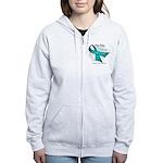 For My Hero Ovarian Cancer Women's Zip Hoodie