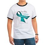 For My Hero Ovarian Cancer Ringer T
