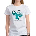 For My Hero Ovarian Cancer Women's T-Shirt
