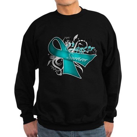 Ovarian Cancer Survivor Sweatshirt (dark)