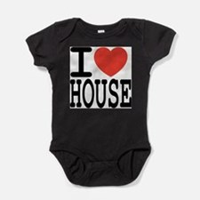 I love House Music Infant Creeper Body Suit
