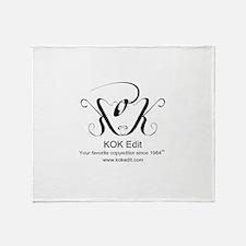 KOK Edit Throw Blanket