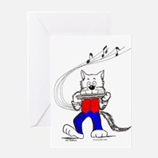 Catoons™ Harmonica Cat Greeting Card