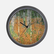 Cute Birch tree Wall Clock