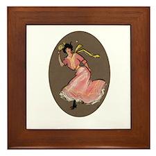 Ping Pong Girl Framed Tile