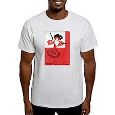 Girl In a Red Dress Light T-Shirt