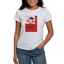 Girl In a Red Dress Women's T-Shirt
