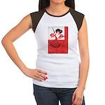 Girl In a Red Dress Women's Cap Sleeve T-Shirt