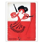Girl In a Red Dress Small Poster
