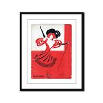 Girl In a Red Dress Framed Panel Print