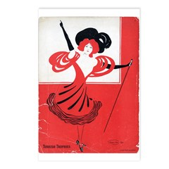 Girl In a Red Dress Postcards (Package of 8)