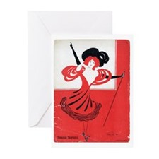 Girl In a Red Dress Greeting Cards (Pk of 20)