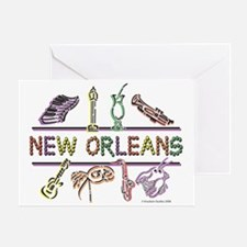 New Orleans Bead Design Greeting Card