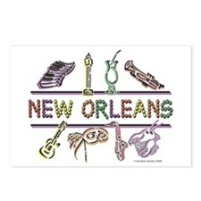 New Orleans Bead Design Postcards (Package of 8)