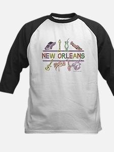 New Orleans Bead Design Kids Baseball Jersey