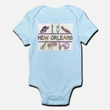 New Orleans Bead Design Infant Bodysuit