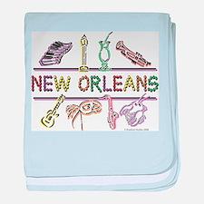 New Orleans Bead Design baby blanket