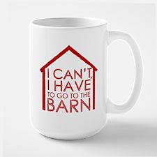 To The Barn Large Mug
