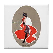 Newport Girl Tile Coaster