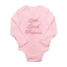 Little Greek Princess Long Sleeve Infant Bodysuit