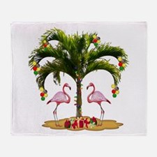 Tropical Holiday Throw Blanket