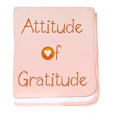 Attitude of Gratitude baby blanket