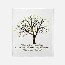The Art Of Teaching Throw Blanket