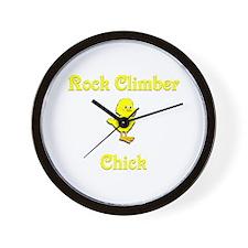 Rock Climber Chick Wall Clock