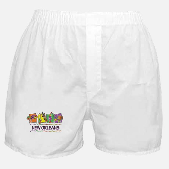 New Orleans Squares Boxer Shorts