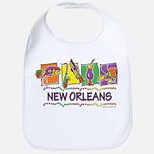 New Orleans Squares Bib