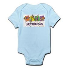 New Orleans Squares Infant Bodysuit