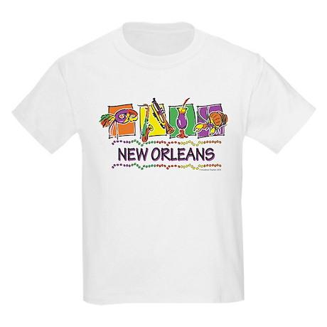 New Orleans Squares Kids Light T-Shirt