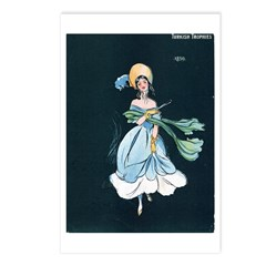 Girl in a Blue Dress Postcards (Package of 8)