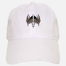 Whitetail skull on old glory Baseball Baseball Cap