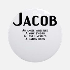 Jacob Rhyme Ornament (Round)