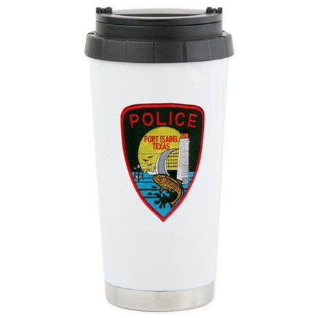 Port Isabel Police Stainless Steel Travel Mug