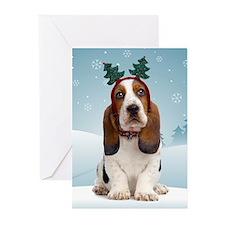 Basset Hound Christmas Cards (Pk of 10)