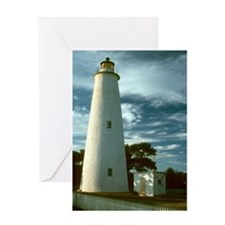 Ocracoke Lighthouse NC Greeting Card